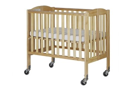 Natural 2 in 1 Folding, Birch Portable Crib Silo