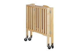 Natural 2 in 1 Folding, Birch Portable Crib Silo Fold