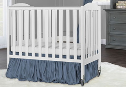White 2 in 1 Folding, Birch Portable Crib RS