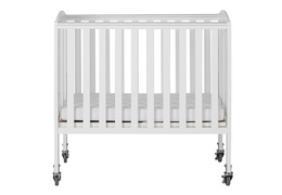 White 2 in 1 Folding, Birch Portable Crib Silo
