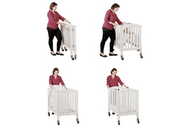 White 2 in 1 Folding, Birch Portable Crib Collage