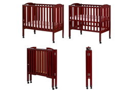 Cherry 2 in 1 Folding Portable Crib Silo Collage