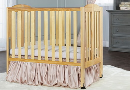 Natural 2 in 1 Folding Portable Crib RS