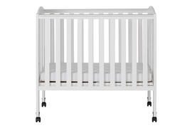 White 2 in 1 Folding Portable Crib Silo