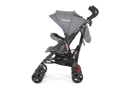 Purple and Dark Grey - Volgo Twin Umbrella Stroller 05