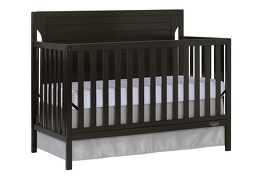 Charcoal - Cape Cod 5 in 1 Convertible Crib Silo Side