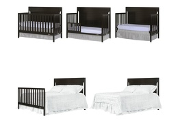 Charcoal - Cape Cod 5 in 1 Convertible Crib Collage