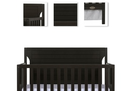 Charcoal - Cape Cod 5 in 1 Convertible Crib Details