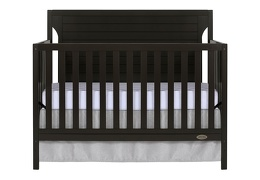 Charcoal - Cape Cod 5 in 1 Convertible Crib Silo Front