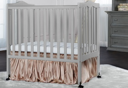 Pebble Grey - 2 in 1 Lightweight Folding Portable Crib RS