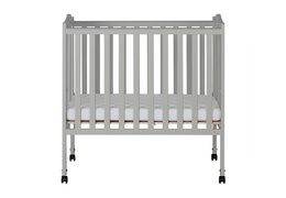 Pebble Grey - 2 in 1 Lightweight Folding Portable Crib Silo 01