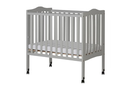 Pebble Grey - 2 in 1 Lightweight Folding Portable Crib Silo 02