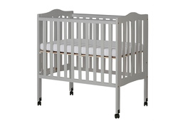Pebble Grey - 2 in 1 Lightweight Folding Portable Crib Silo 03