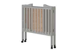 Pebble Grey - 2 in 1 Lightweight Folding Portable Crib Silo 04