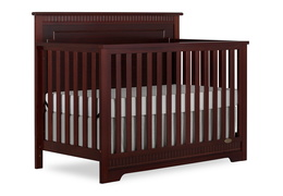 Espresso - Morgan 5 in 1 Convertible Crib Silo Side