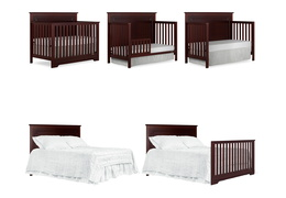 Espresso - Morgan 5 in 1 Convertible Crib Collage