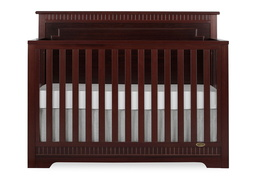 Espresso - Morgan 5 in 1 Convertible Crib Silo Front
