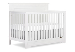 White - Morgan 5-in-1 Convertible Crib Silo Side