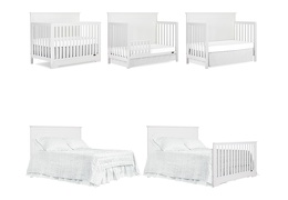 White - Morgan 5-in-1 Convertible Crib Collage