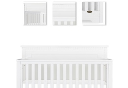 White - Morgan 5-in-1 Convertible Crib Details