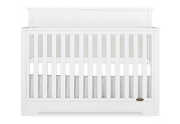 White - Morgan 5-in-1 Convertible Crib Silo Front