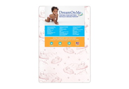 Baby Trend Nursery Center 3 Inch Foam Mattress with Square Corner - Front