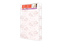 3″ Spring Coil Portable Crib Mattress Cloud-Pink Side