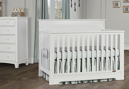 White - Morgan 5-in-1 Convertible Crib RS