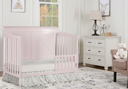 Blush Pink - Ashton Full Panel Toddler Bed RS