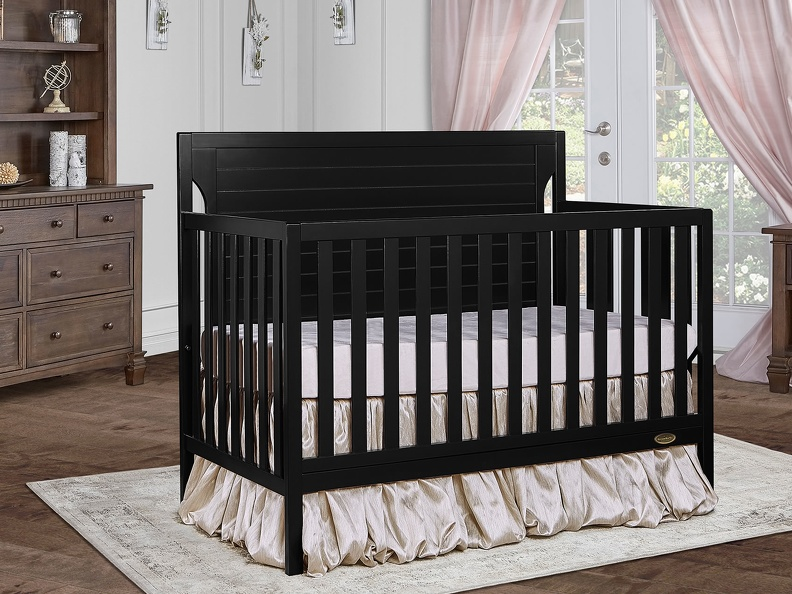 Black - Cape Cod 5-in-1 Convertible Crib RS
