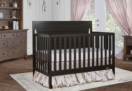 Charcoal - Cape Cod 5-in-1 Convertible Crib RS