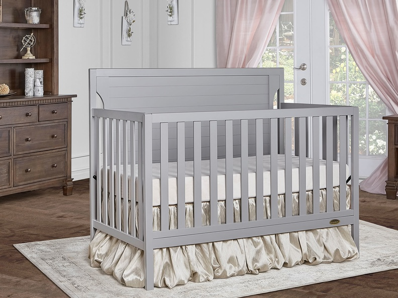 Pebble Grey - Cape Cod 5-in-1 Convertible Crib RS