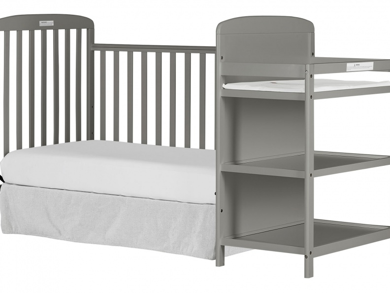 678-SGY 4 in 1 Full Size Crib & Changing Table Combo Day Bed Silo