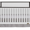 Alexa 5 in 1 Convertible Crib Front Silo - Brushed Charcoal