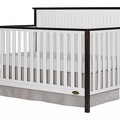 Alexa 5 in 1 Convertible Crib Side Silo - Brushed Charcoal