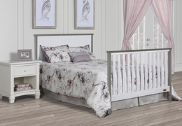 Alexa Full Bed Headfoot Room Scene - Brushed Silver Grey Pearl