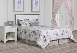 Alexa Full Bed Room Scene - Brushed Silver Grey Pearl
