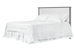 Alexa Full Bed Silo - Brushed Silver Grey Pearl
