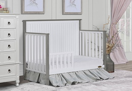 Alexa Toddler Bed Room Scene - Brushed Silver Grey Pearl