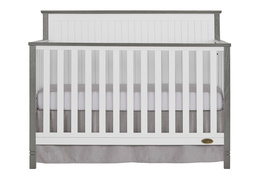 Alexa 5 in 1 Convertible Crib Front Silo - Brushed Silver Grey Pearl