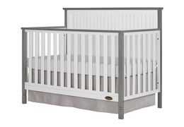 Alexa 5 in 1 Convertible Crib Side Silo - Brushed Silver Grey Pearl