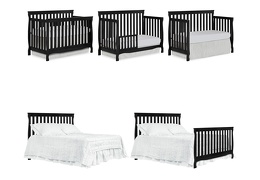 Black Keyport 5 in 1 Convertible Crib Collage