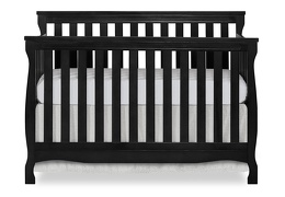 Black Keyport 5 in 1 Convertible Crib Front Silo