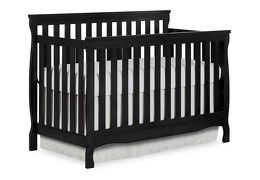 Black Keyport 5 in 1 Convertible Crib Side Silo