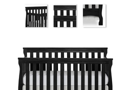 Black Keyport 5 in 1 Convertible Crib Details