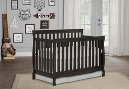 Charcoal Keyport 5 in 1 Convertible Crib RmScene