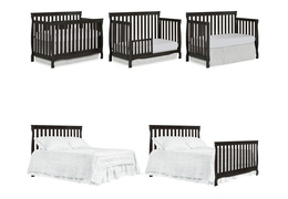 Charcoal Keyport 5 in 1 Convertible Crib Collage