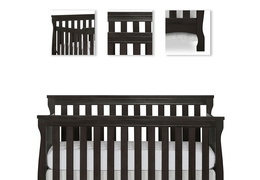 Charcoal Keyport 5 in 1 Convertible Crib Details