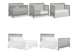 Steel Grey Keyport 5 in 1 Convertible Crib Collage