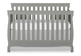 Steel Grey Keyport 5 in 1 Convertible Crib Front Silo
